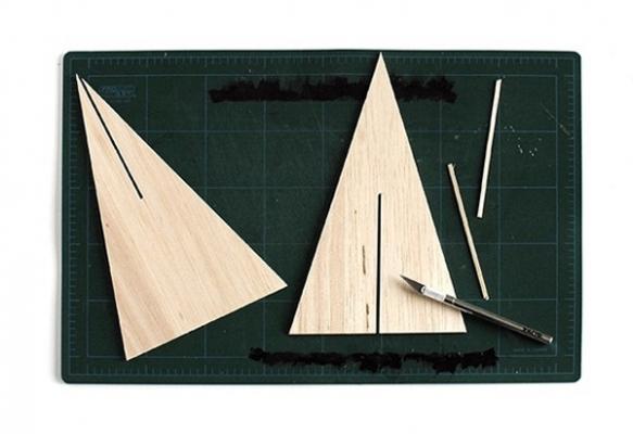 Realizzazione mini albero in legno by curbly.com