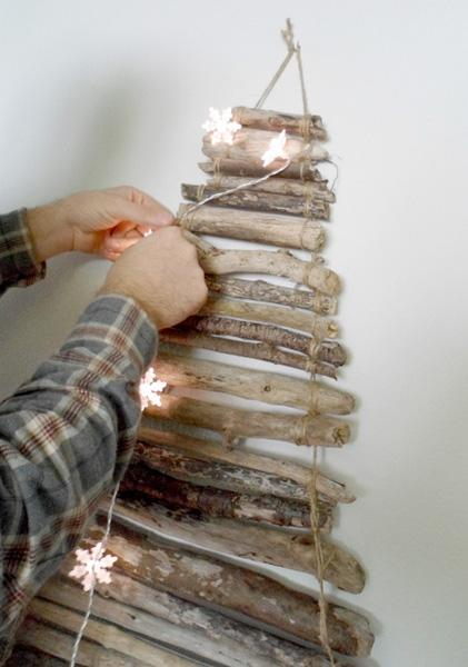 Montaggio mini albero con rami di laloleblog.blogspot.it