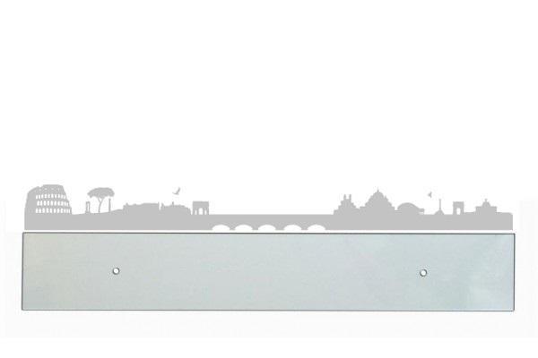 Fascia paracolpi con sticker skyline Roma bianco di Design trasparente