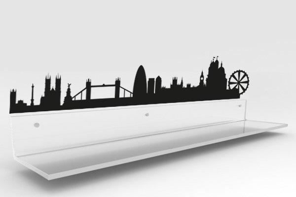Fascia paracolpi  con sticker Londra di Design Trasparente