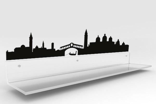 Fascia paracolpi Design Trasparente con sticker Venezia