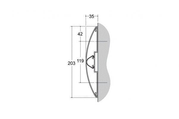 Dimensioni della fascia paracolpo Aqualign di Cs Italy
