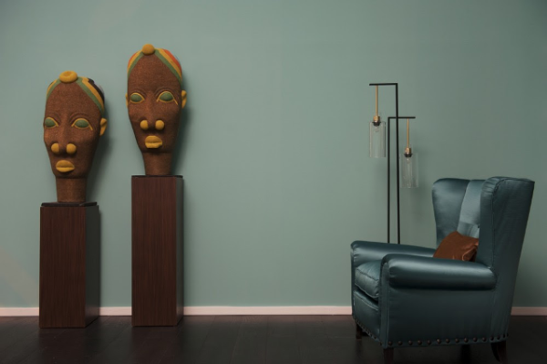 Sculture afro ed elementi aredo afro chic di Studio Dimore Collection
