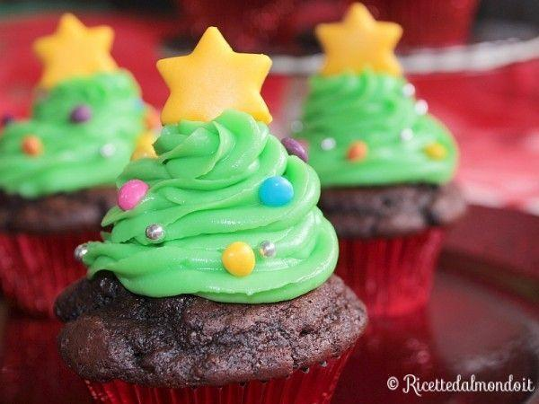 Cupcake ad alberello di Natale di Ricettedalmondo.it