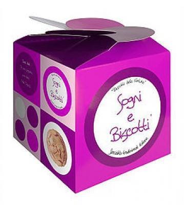 Sogni e biscotti box di biscotti con aforismi