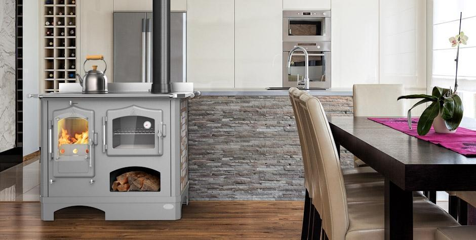 Foto - Cucina economica a legna