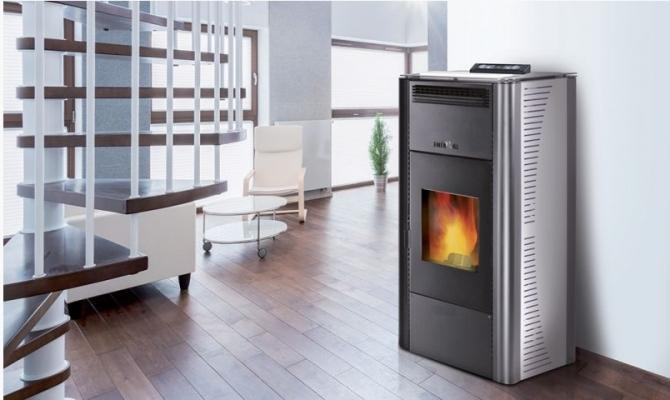 Modello termostufa a pellet di Enerkal