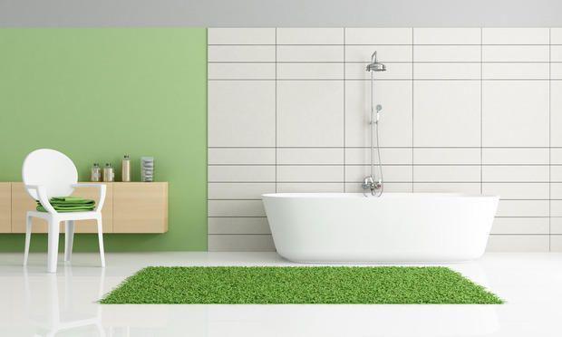 Bagno verde Greenery, Pantone 2017