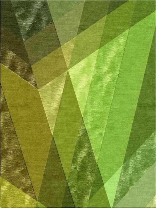 Tappeto Greenery colore Pantone del 2017 di Illulian