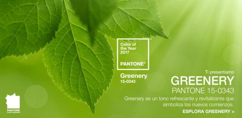 Greenery il colore Pantone 2017