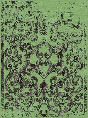 Tappeto verde Greenery, Pantone 2017 di Illulian