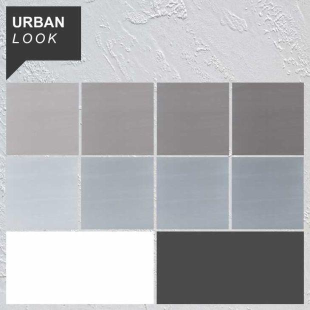 Rivestimenti decorativi, palette di colori stile Urban Look di Pancotti