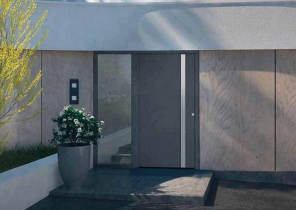 Porte d'ingresso di sicurezza modello di Hörmann, ThermoCarbon