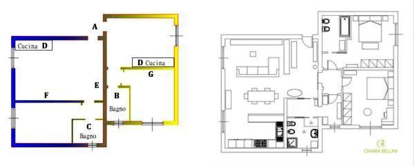 Come unire due appartamenti confinanti: prima e dopo