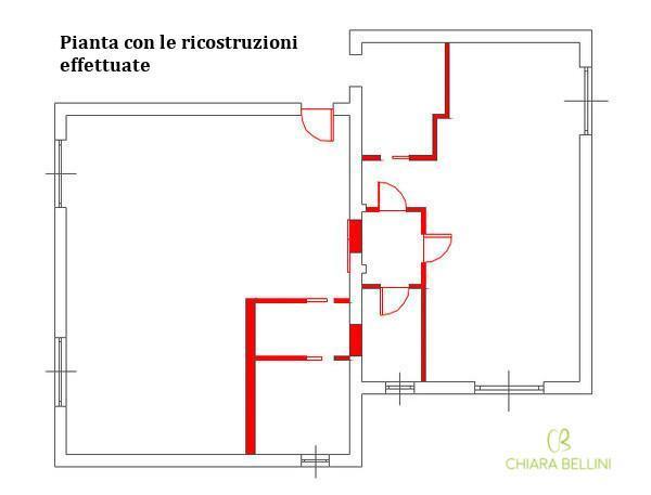 Ristrutturare due appartamenti confinanti unendoli: pianta ricostruzioni