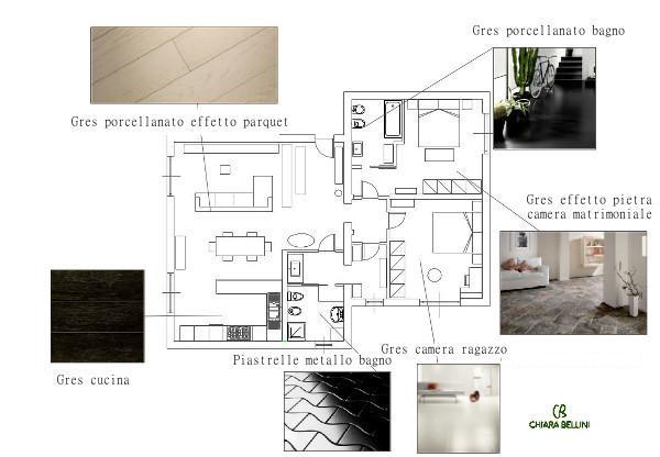 Ristrutturare due appartamenti adiacenti usando il gres nelle sue molteplici varianti