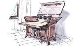 Madia da cucina con piano estraibile
