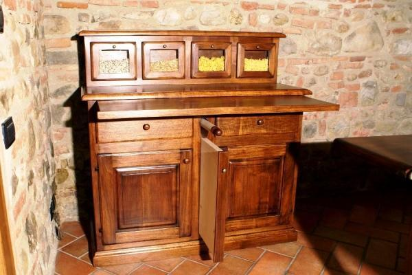 Madia da cucina con piano estraibile - Tavolo a scomparsa per cucina ...