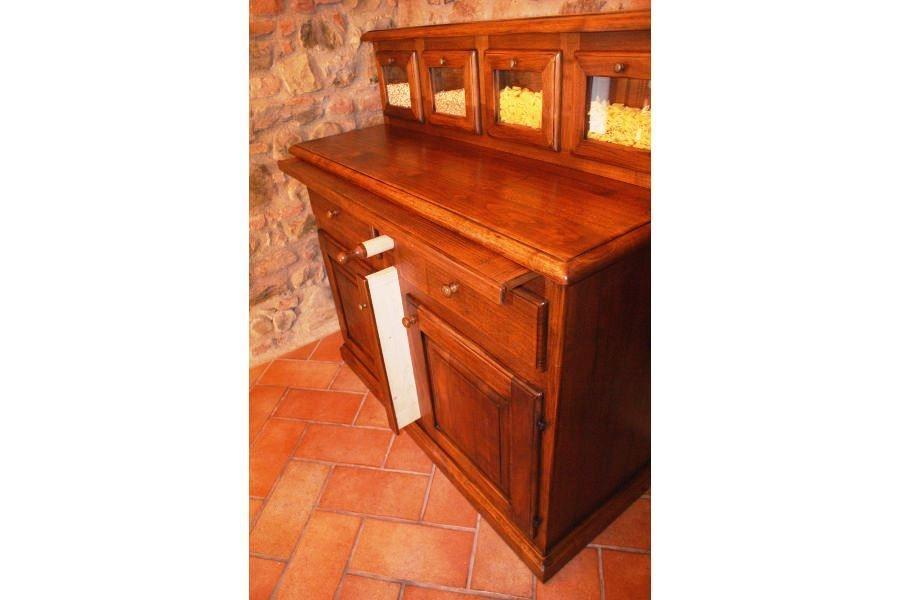 Foto - Madia da cucina con piano estraibile
