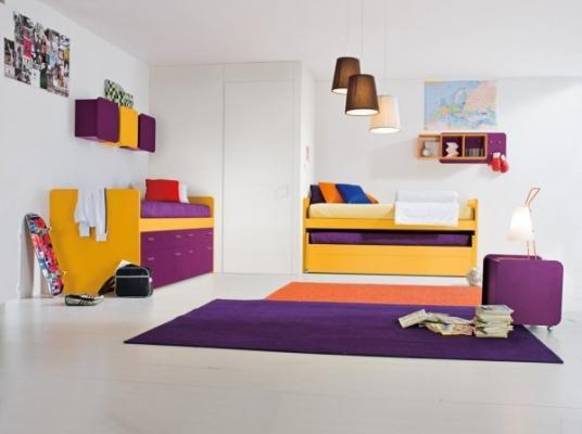 Camerette per ragazzi trasformabilI con letto estraibile Clever