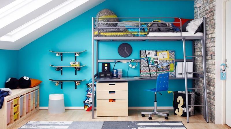 Camerette per ragazzi trasformabilI con contenitori di Ikea