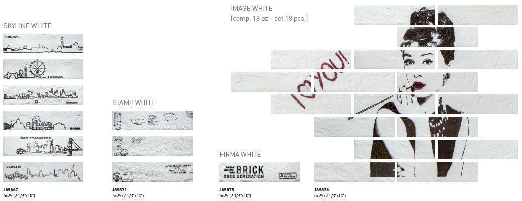 Scritte e immagini per le piastrelle New York di Ceramiche Rondine.