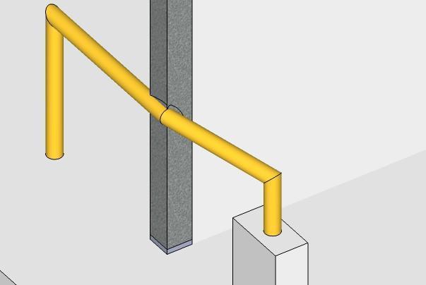 Danneggiamento ad un pilastro per passaggio tubazione