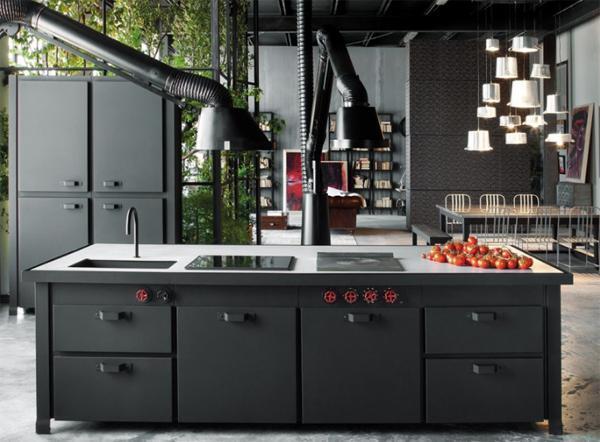 Cucina ad isola moderne Minà di Minacciolo