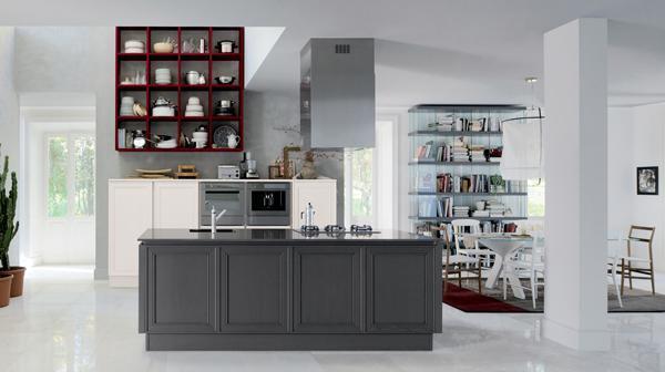 Progetti di cucine con isola di Elegante di Veneta Cucine