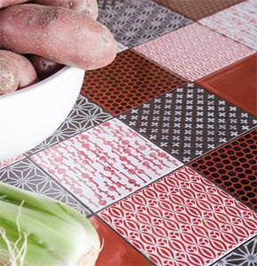 Piano in pietra lavica per una cucina ad isola di Minà