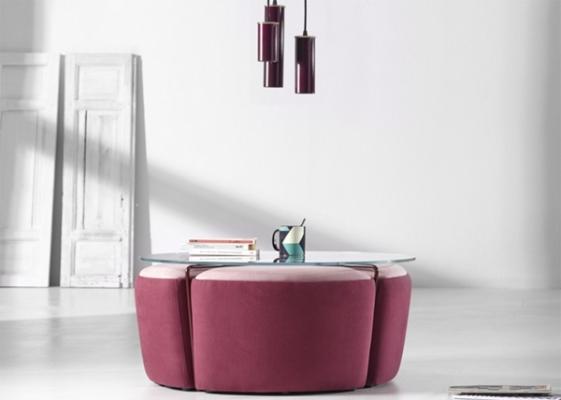 Pouf salotto, modello tavolino Gemma Altinox