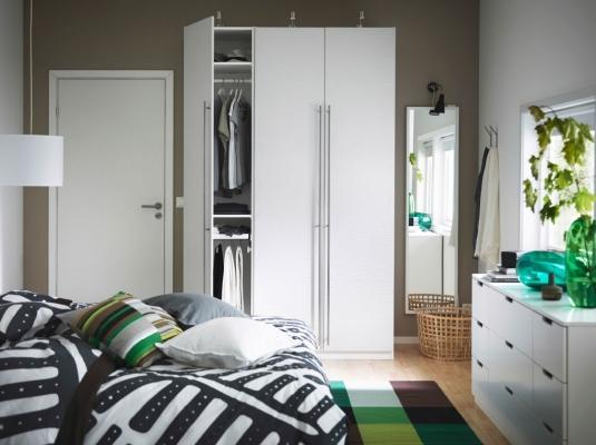 Arredare camera da letto Ikea bianca classica