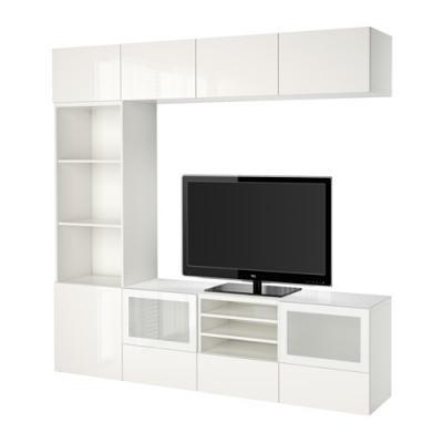Arredare mobile soggiorno Besta bianco Ikea
