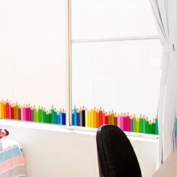Stickers per finestre, arredare con le matite di Aliexpress.com