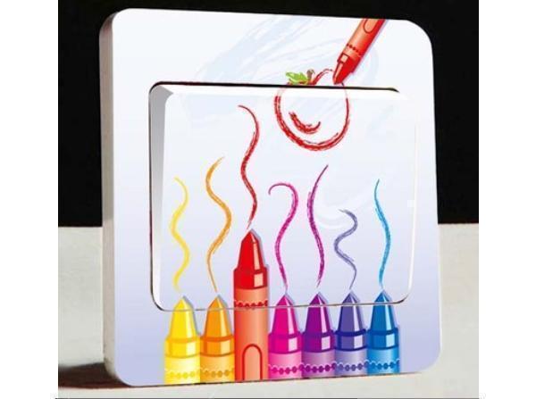 Stikers per interruttore della luce con pastelli a cera, su Aliexpress.com