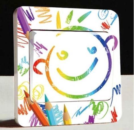 Stiker da interruttore con matite colorate, su Aliexpress.com