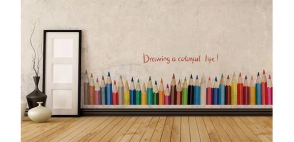 Stiker murale con matite colorate, su Aliexpress.com