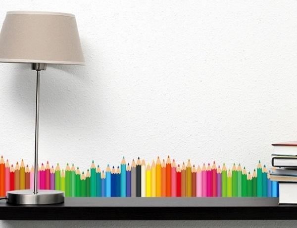 Stiker a parete con matite colorate, su Aliexpress.com