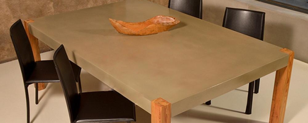 Tavolo in cemento della collezione Betrox di Edfan