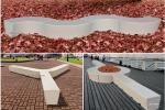 Composizioni di panche in cemento di UrbiUrbe