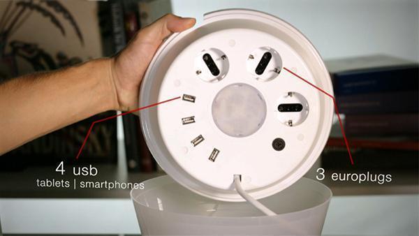 MultiPot di Rotaliana lampada con multipresa