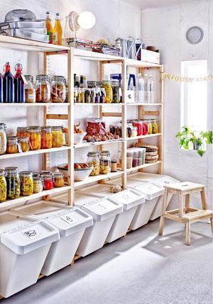 Soluzioni per ricavare un ripostiglio for Ikea scaffali in metallo
