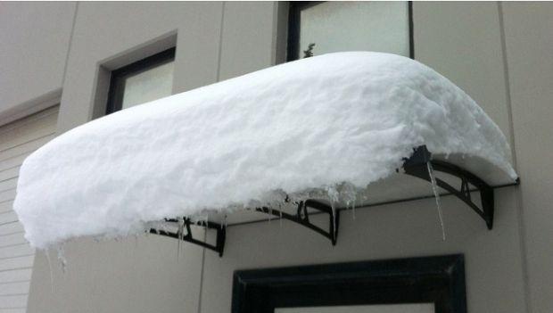 Pensilina: resistenza carico neve