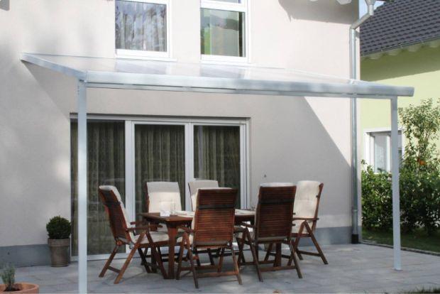Pensilina in policarbonato, veranda