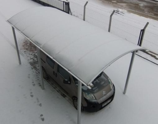 Pensilina per auto copertura neve