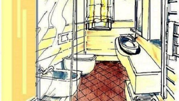 Idea di progetto per bagno e antibagno in soli 5 mq