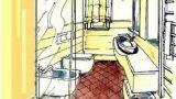 Bagno e antibagno progetto 5 mq