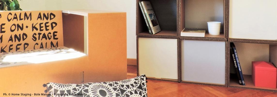 Progetto per Home staging di Mobiliincartone.it