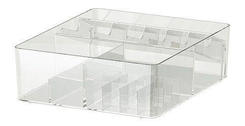 Amadietto medicinali: contenitore trasparente Ikea