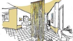 Tenda a fili per dividere gli spazi